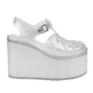 UNIF Womens Hella Jelly Platform Sandals Size 7